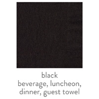 3-Ply Napkin Black