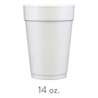 custom styrofoam cups 14 oz