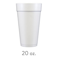 custom styrofoam cups 20 oz