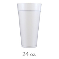 custom styrofoam cups 24 oz