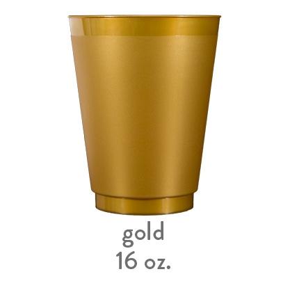 gold frost flex shatterproof cup 16oz