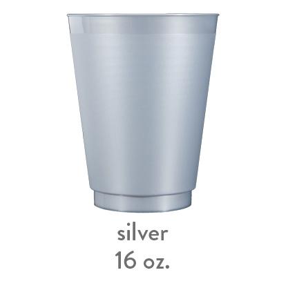 silver frost flex shatterproof cup 16oz