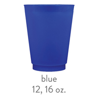 custom blue frost flex cups 12 oz 16 oz