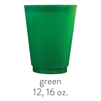 custom frost flex cups green 12oz 16oz
