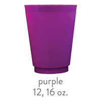 custom purple frost flex cups 12 oz 16 oz