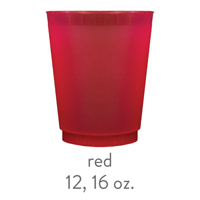 custom red frost flex cups 12 oz 16 oz