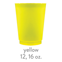custom yellow frost flex cups 12 oz 16 oz