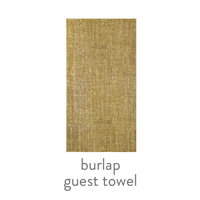 burlap everyday patterned guest towel