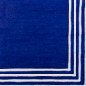 custom stripe border blue pattern napkin