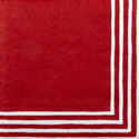 custom stripe border red pattern napkin