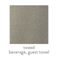 tweed everyday patterned guest towel