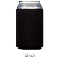 black neoprene can koozie hugger