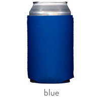 blue neoprene can koozie hugger