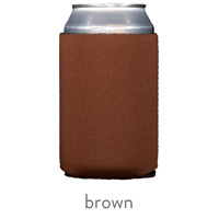 brown neoprene koozie hugger