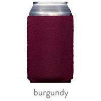 burgundy neoprene koozie hugger