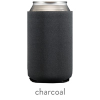 charcoal neoprene koozie hugger