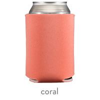 coral neoprene koozie hugger