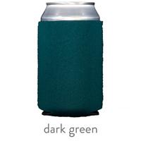 dark green neoprene koozie huggert