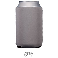 gray neoprene can koozie hugger