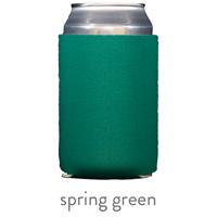 spring green neoprene koozie hugger