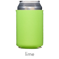 lime green neoprene koozie hugger