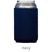 navy blue neoprene koozie hugger