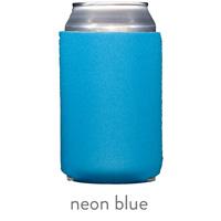 neon blue neoprene can koozie hugger