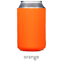 orange neoprene koozie hugger