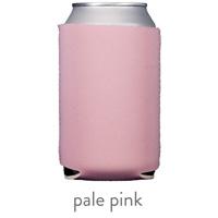 pale pink neoprene koozie hugger