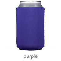 purple neoprene koozie hugger