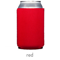 red neoprene koozie hugger