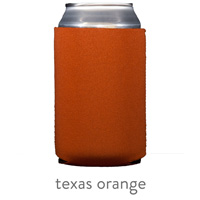 texas orange neoprene koozie hugger