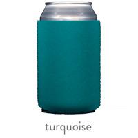 turquoise neoprene can koozie hugger