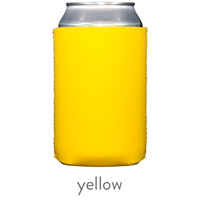 yellow neoprene can koozie hugger