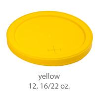 yellow stadium cup plastic plastic lids 12oz 16oz 22oz