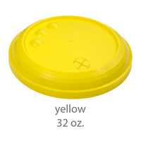 yellow stadium cup plastic lids 32oz