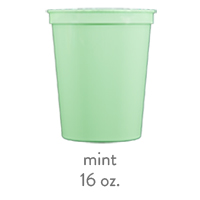 custom plastic stadium cups mint 16oz