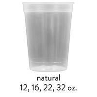 custom natural stadium cups 12oz 16oz 22oz 32oz