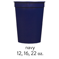 custom navy blue stadium cups 12oz 16oz 22oz