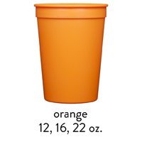 custom orange stadium cups 12oz 16oz 22oz