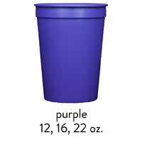 custom purple stadium cups 12oz 16oz 22oz