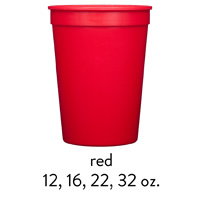 custom red stadium cups 12oz 16oz 22oz 32oz