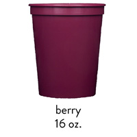 custom berry stadium cups 16oz