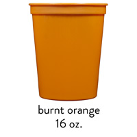 burnt orange stadium cup 16oz