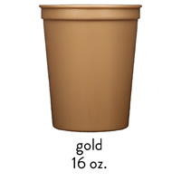 custom gold stadium cups 16oz