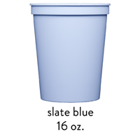 custom slate blue stadium cups 16oz