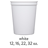 custom white stadium cups 12oz 16oz 22oz 32oz