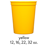 custom yellow stadium cups 12oz 16oz 22oz 32oz
