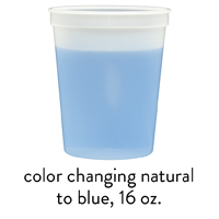custom blue color changing stadium mood cups 16oz
