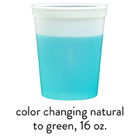 custom green color changing stadium mood cups 16oz 22oz